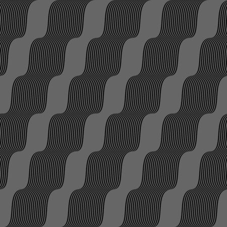 Retro greyr seamless swirl background Vector