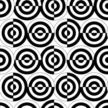 Retro black and white seamless circle background Stock Vector - 7936688