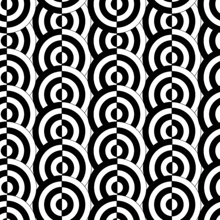 Retro black and white seamless circle background