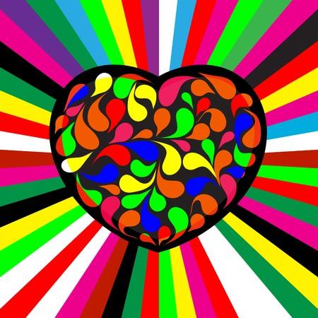 spillage: Frontera de coraz�n de grunge para cualquier prop�sito! Vectores