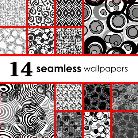 Golden collection of seamless wallpapers Vettoriali