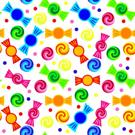 colourful candy: Seamless candy pattern Illustration