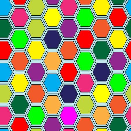 Hexagon tiles. Seamless  pattern Vector