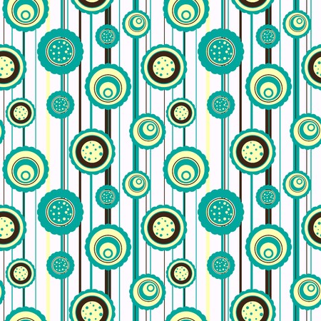 Circles pattern with abstract flowers Vector
