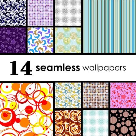 14 seamless wallpaper. Golden collections.