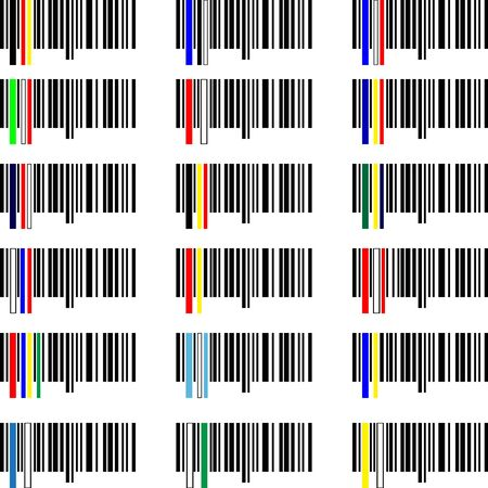 Set of Flags barcodes of the world  Vector