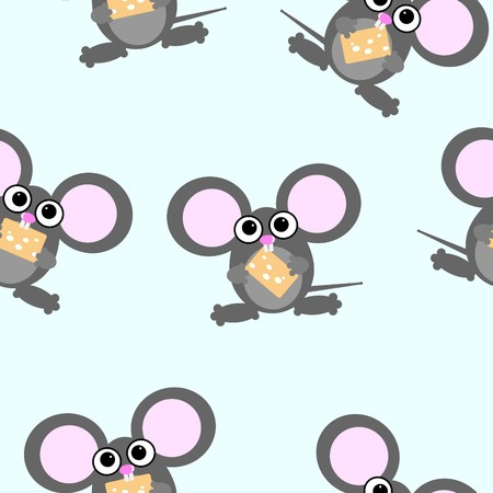 Cute little mouses Vector