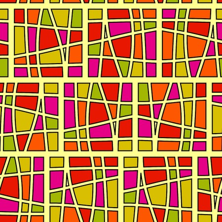 Square pattern in fashion trend colors