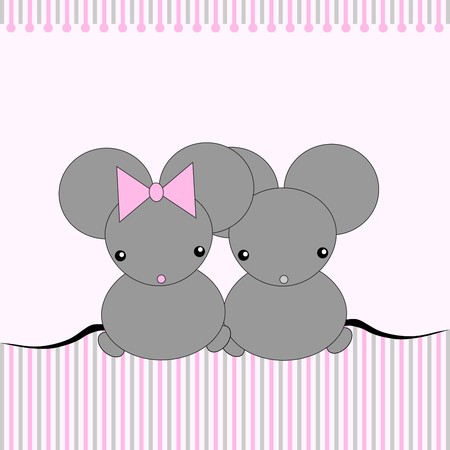 Cute little mouses Stock Vector - 8398921
