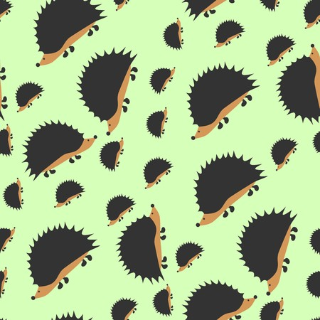 Cute little hedgehogs Vector