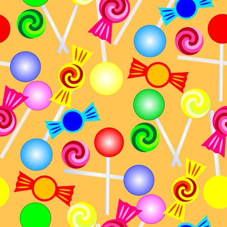Retro colorful seamless candy background Vector