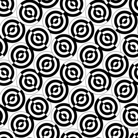 Retro black and white seamless circle background Vector