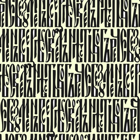 Seamless wallpaper based on the ancient Russian manuscript Vector