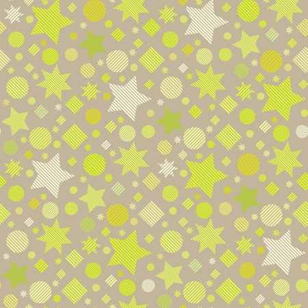 madras: Seamless vector texture with stars Illustration