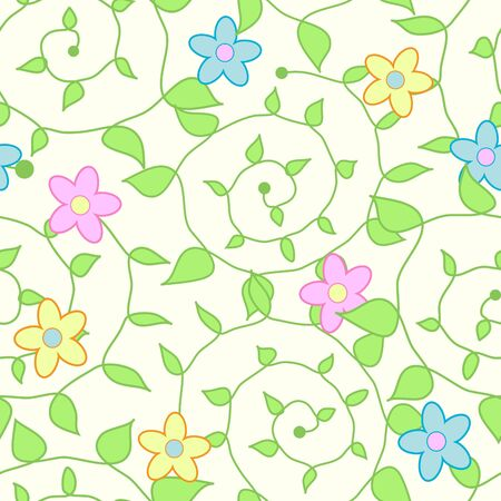 dearness: Seamless background with art flowers