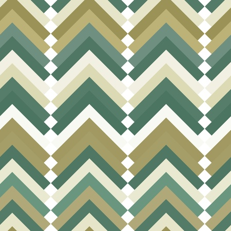 Retro vivid seamless background with green triangles