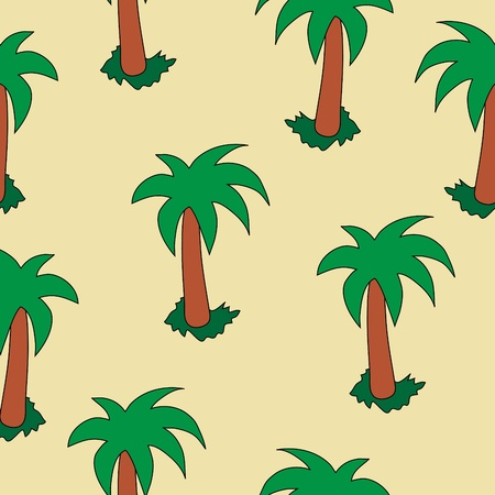 Abstract seamless background with palm Vector