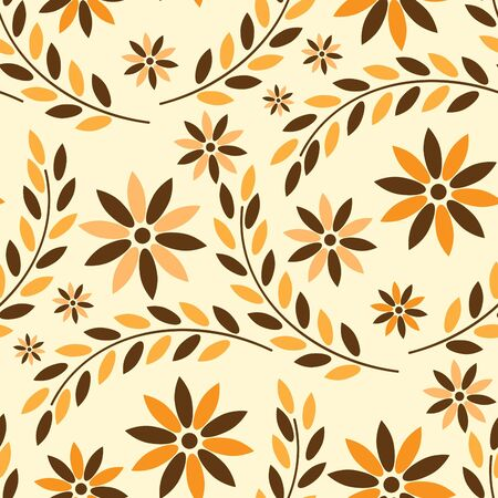 Seamless background with art flowers Stock Vector - 9718716