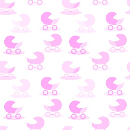pink carriage background on white Vector