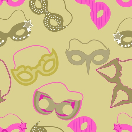 carnival pattern with colorful mask
