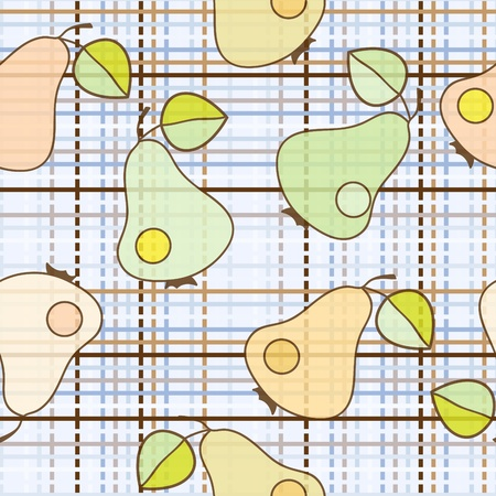 color pear - seamless wallpaper Vector