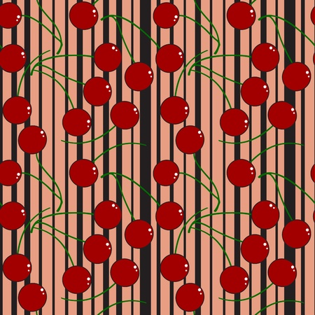 red cherry - seamless wallpaper Vector
