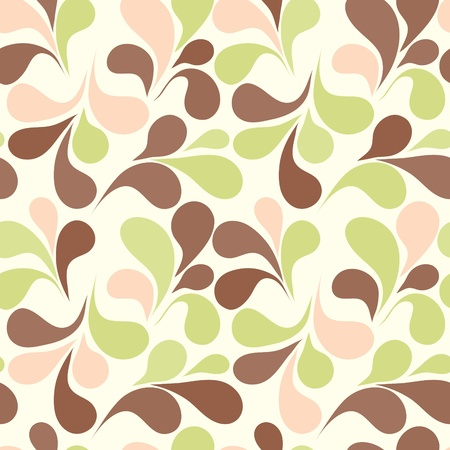 Seamless background with art leafs Vector