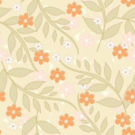 Seamless background with art flowers Фото со стока - 10849248