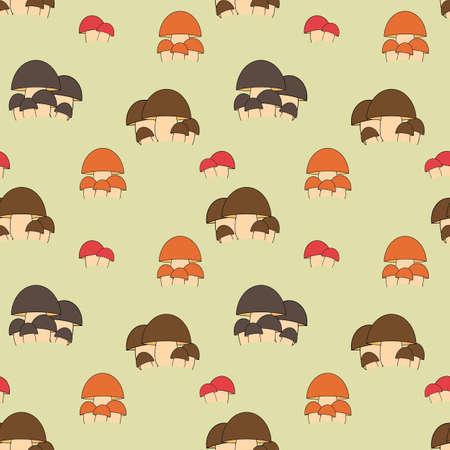 Seamless mushroom kids pattern in vector  Vector