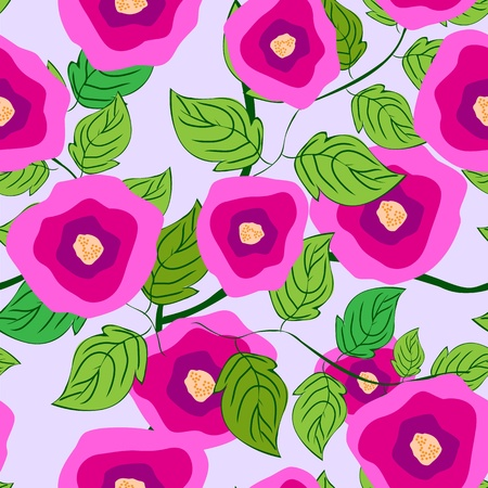 Seamless background with art roses