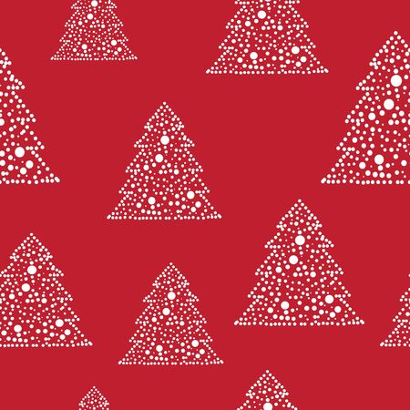 Seamless vivid colorful christmas tree design Vector