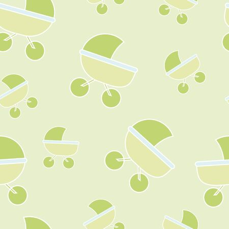 vivid carriage background on green Vector