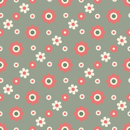 Seamless background with simple flowers Vettoriali