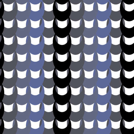 Abstract pattern of a chain black and blue color