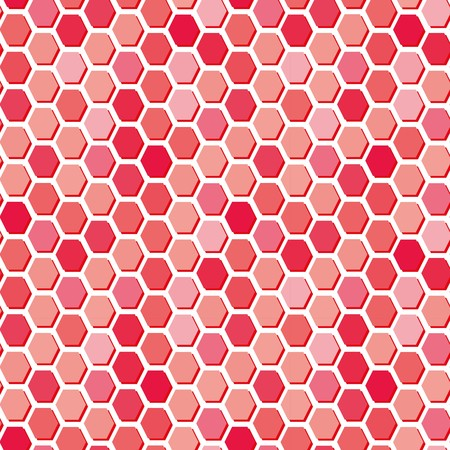 madras: Hexagon tiles. Abstract vector pattern Illustration