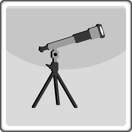Telescope  icon Illustration