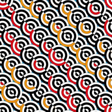 vivid: Seamless vivid circle abstract pattern Illustration