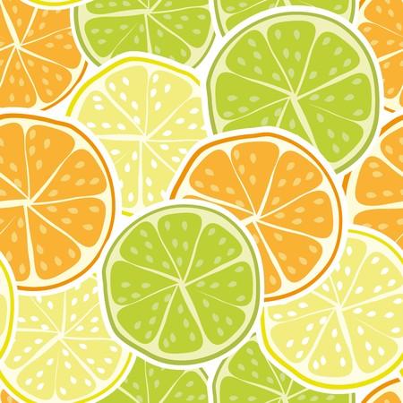 Vector seamless citrus background Vettoriali