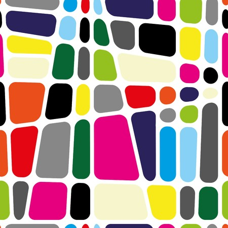 Square pattern in fashion trend colors Vector