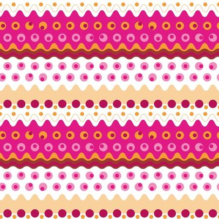 madras: Seamless abstract vivid geometric pattern Illustration
