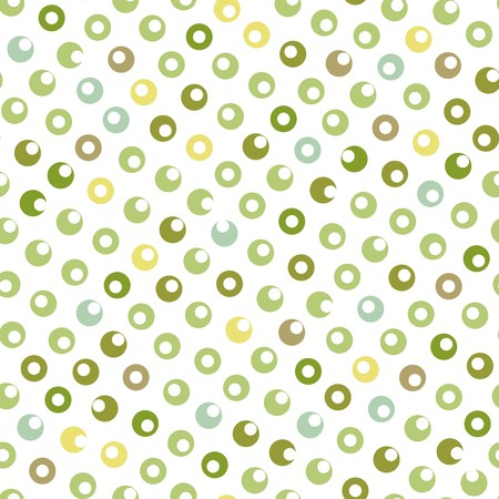 Seamless green circle abstract pattern Çizim