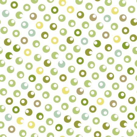 Seamless green circle abstract pattern Illustration