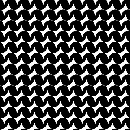madras: Seamless abstract black geometric pattern