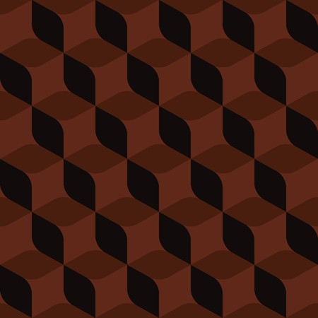 madras: Seamless abstract brown geometric pattern Illustration