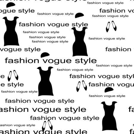 modish: Fashion poster as seamless pattern