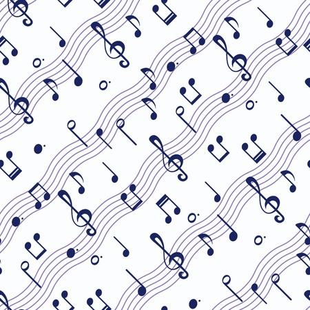 Seamless wallpaper with music notes Stock Illustratie