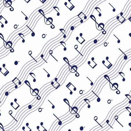 note musicali: Seamless sfondo con note musicali