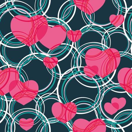 Seamless vivid valentine abstract pattern