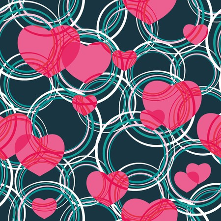 Seamless vivid valentine abstract pattern