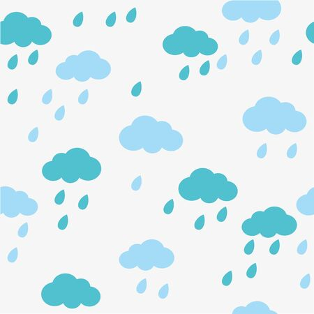 caption: Rain doodles and hearts seamless pattern  caption